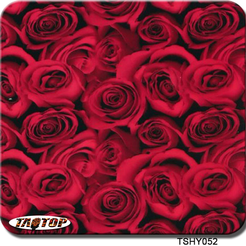 TAOTOP TSHY052 0.5m*2m pva hydrographic film red rose flower water transfer agua film(China (Mainland))