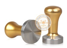 304 stainless steel 57.5MM pro coffee tamper GOLD