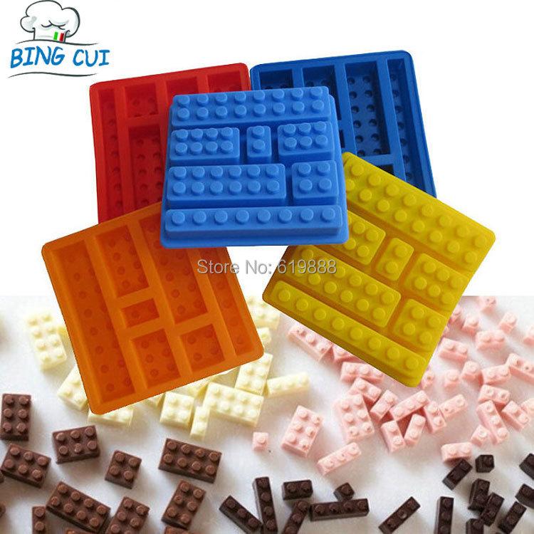 Square Lego Toy Brick Shape Silicone Fandont Chocolate Mold Ice Cube Mould Cake Bakeware Cake Tools CT029(China (Mainland))