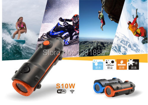 New Arrival! Sport Camera S10W wifi DV Full HD 1080P Action Digital Video Camera With 30M Waterproof Sport Camera Mini Camcorder(China (Mainland))
