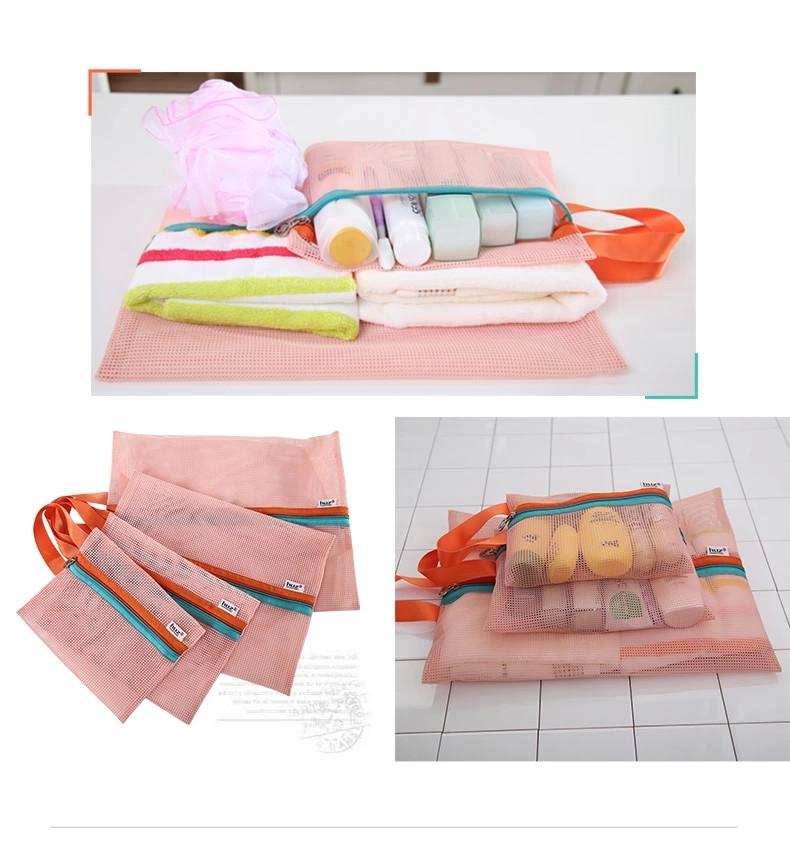 4pcs/lot Portable Polyester Fiber Organizer Bag Foldable HIgh Quality Clothes Socks Make Up Storage Bag Travel Home Sorting Bag(China (Mainland))