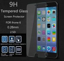 6 г 2.5D 0.26 мм 9 8-9н премиум закаленное стекло для Apple , iphone 6 6 г 4.7 дюймов розничной коробки против анти-разбиться протектор фильм для iphone6