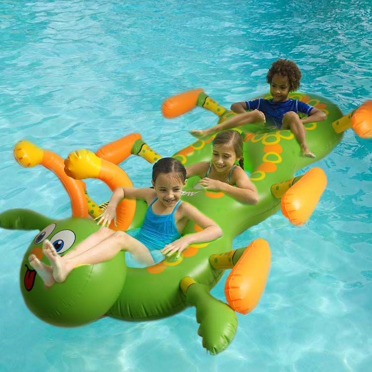3 Person Caterpillar Children Inflatable Pool Float Ride On Water Sports Fun Toy Swimming Ring Air Mattress Piscina Hot Selling(China (Mainland))