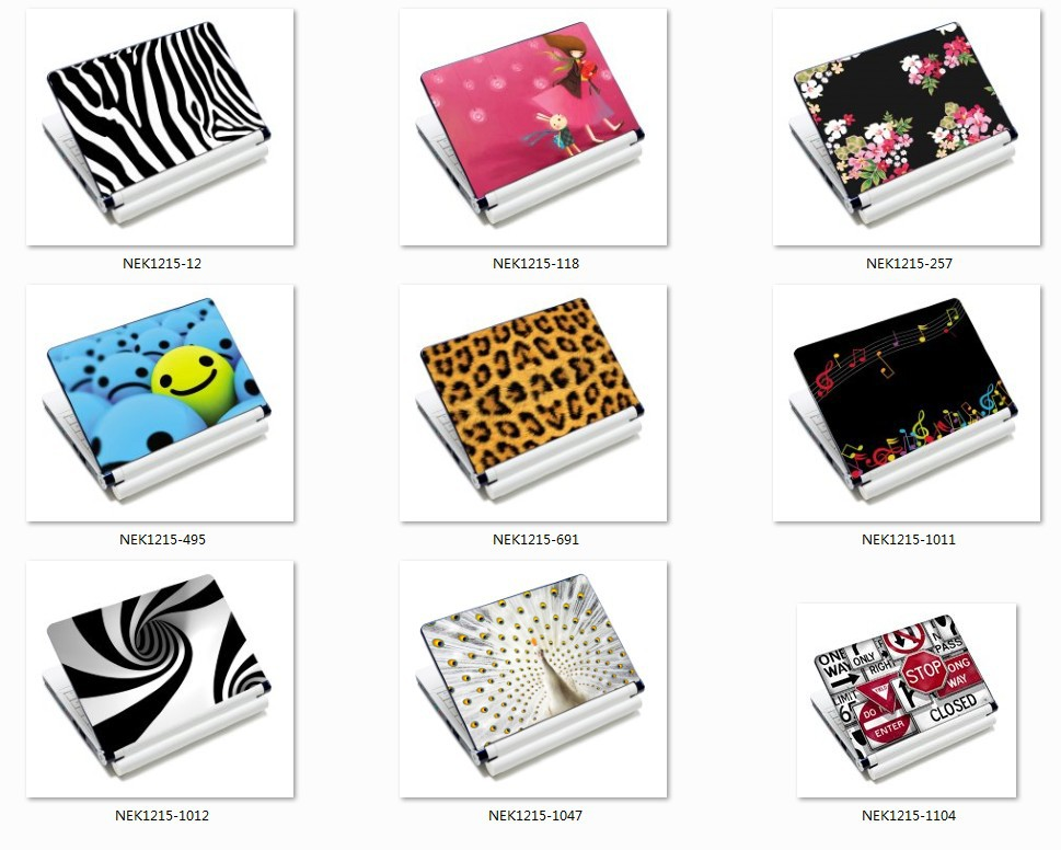 "12"" 12.1"" 13"" 13.3"" 14"" 14.1"" 15"" 15.4"" Dust-proof Waterproof Notebook Skin Cover Laptop Sticker(China (Mainland))"