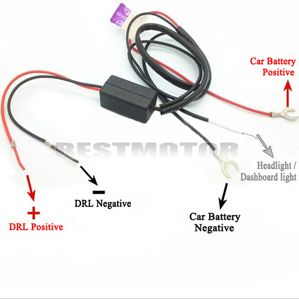 Auto CAR LED DAYTIME RUNNING LIGHT RELAY HARNESS DRL CONTROL DIMMER ON/OFF 12V(China (Mainland))