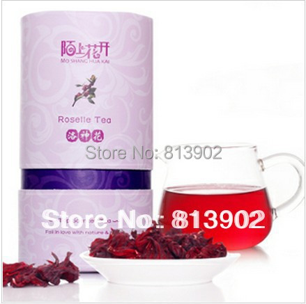 Free Shipping 2015 100% Roselle Hibiscus Natural Dried Flower Herbal Tea Scented Health tea Adjust endocrine disorders skincare