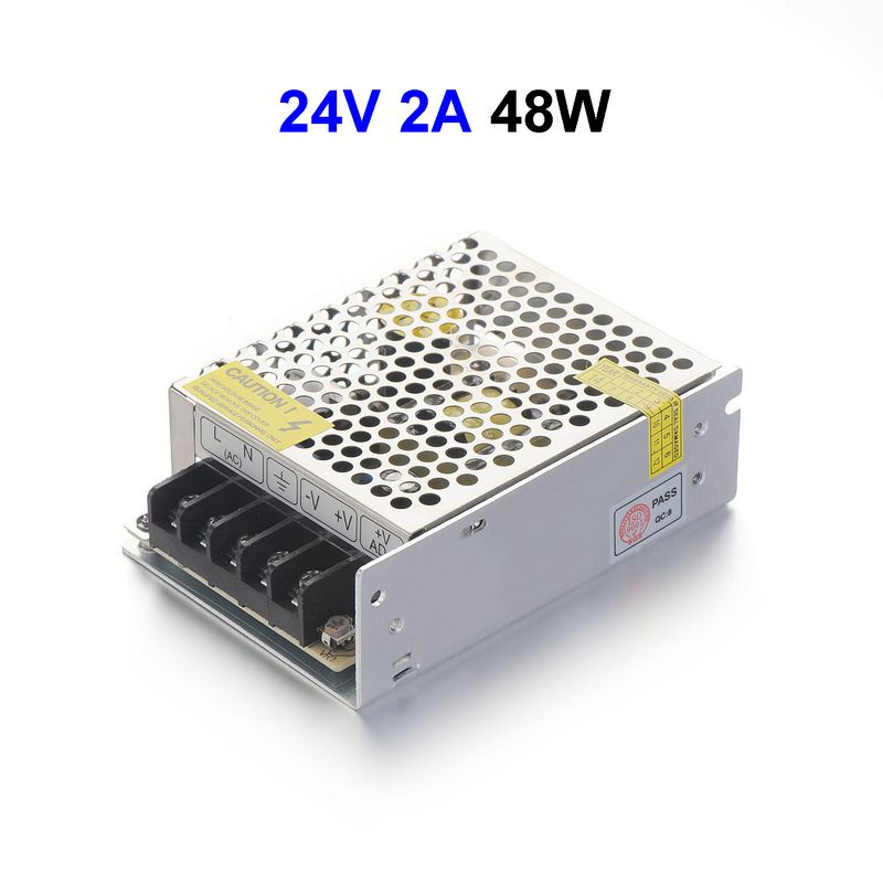 DC24V 2A 48W Switching Power Supply Adapter Driver Transformer For 5050 5730 5630 3528 LED Rigid Strip Light(China (Mainland))