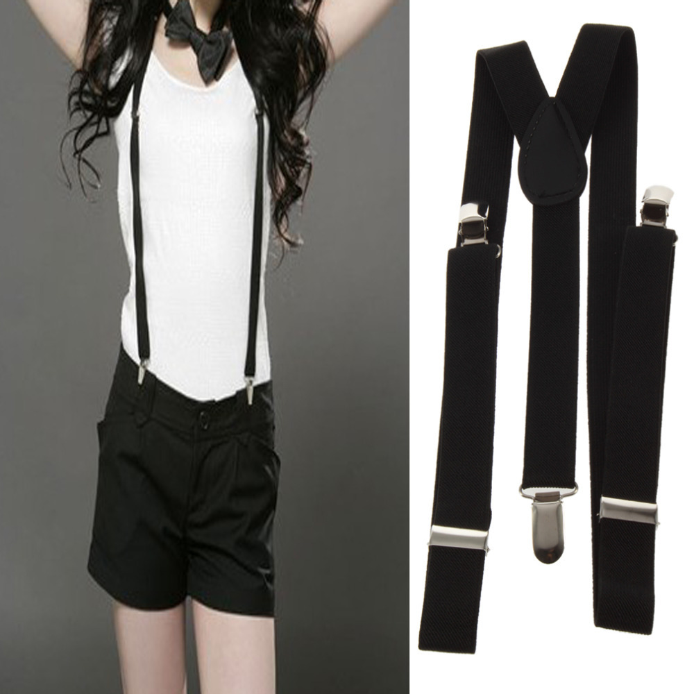1pcs Clip-on Adjustable Unisex Mens Pants Braces Straps Fully Elastic Y-back Suspender Braces belt
