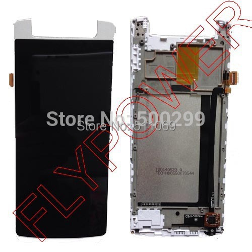 For inew V8 plus lcd screen display+touch screen digitizer and frame assembly by free shipping; white