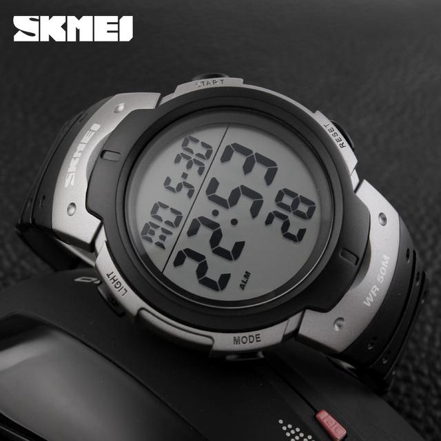 Мужские Часы SKMEI Марка 1068 Открытый Спортивные Часы Большой Циферблат Хронографа PU Ремешок Часы
