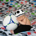 Soft Handmade Crochet Cotton Newborn Photography Props Football baby photography Hat Outfit Photo Props Sets For