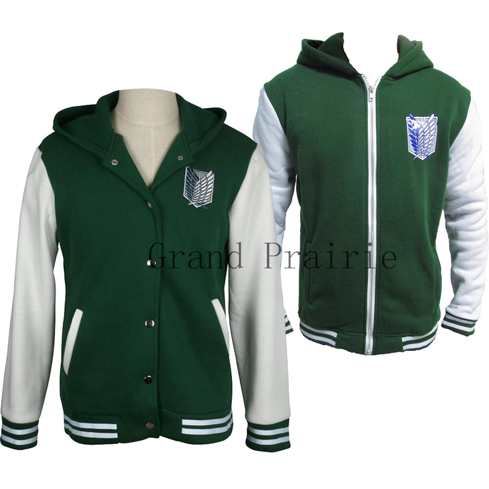 Shingeki No kyojin Attack An Titan jacket casual hoodies Sweatshirt Zip up cosplay anime costume Halloween