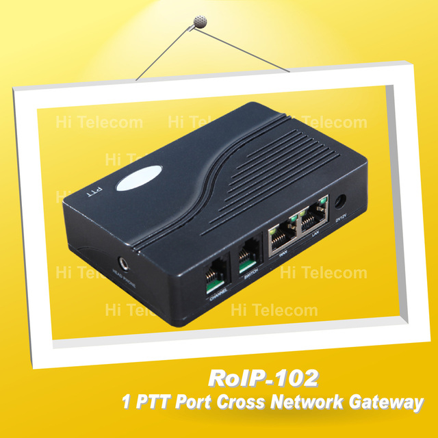 Radio over IP / RoIP Cross-Network Gateway ROIP-102 Convert Audio and PTT Via IP Network Radio
