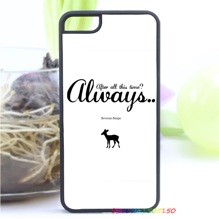 After All This Time Quote Harry potter quotes always fashion cover case for iphone 4 4S 5 5S SE 5C 6 6S 6plus & 6s Plus #5214(China (Mainland))
