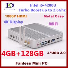 Best price I5 mac mini,4G Ram+128G SSD+640G HDD,3D gaming, Dual Core CPU Quad Threads Wifi, 4*USB 3.0 Port,metal case