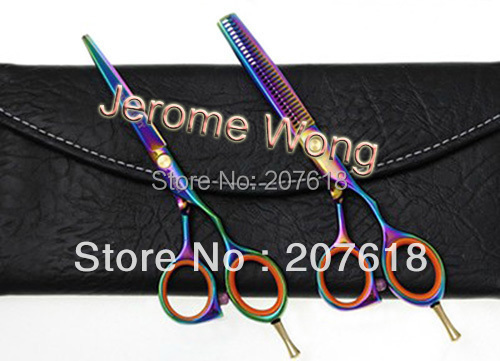 Colorful Hair Scissors 5.5 Inch Hair Cutting Scissor Professional Barber Hairdressing Salon Shears Thinning Scissor