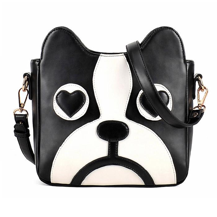 2016 Dog min Bag Heart Satchel Shoulder Bags Chian Women Messenger Bags Cartoon fashion Handbags Cheap Leather Handbag(China (Mainland))
