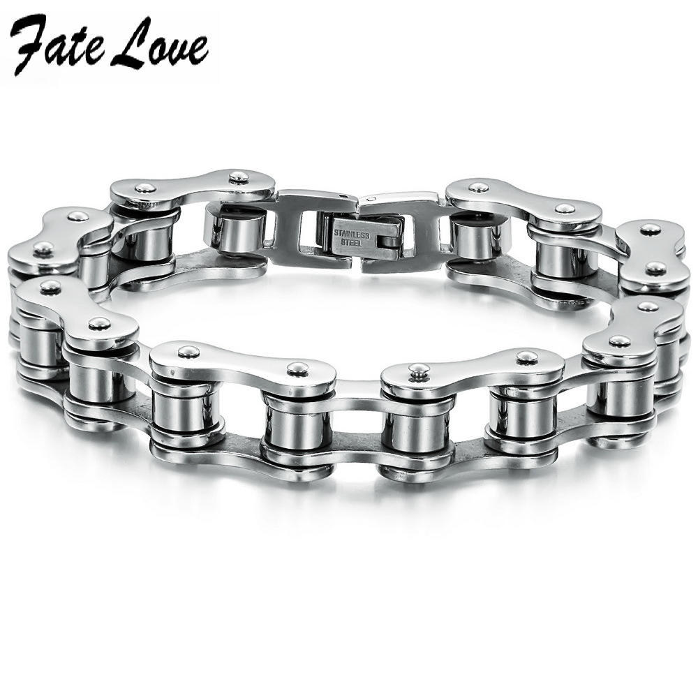 2014 New Fashion 2013 New Hot Sale Fashion New Bike Bicycle Chain Men's 316 titanium steel Bracelets for men 3136b(China (Mainland))