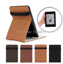 Ultra-slim PU Leather Kindle Paperwhite Case pouch cover jacket for Kindle Paperwhite 6 inch Smart cover 4 color free shipping(China (Mainland))