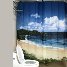 180*180cm Scenery Style Waterproof Fabric Bathroom Shower Curtain With 12pcs Hooks Free Shipping(China (Mainland))