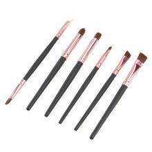 Graceful 6PCS Cosmetic Makeup Brush Lip Makeup Brush Eyeshadow Brush Wooden Handle Animal Hair And Fiber JUN7