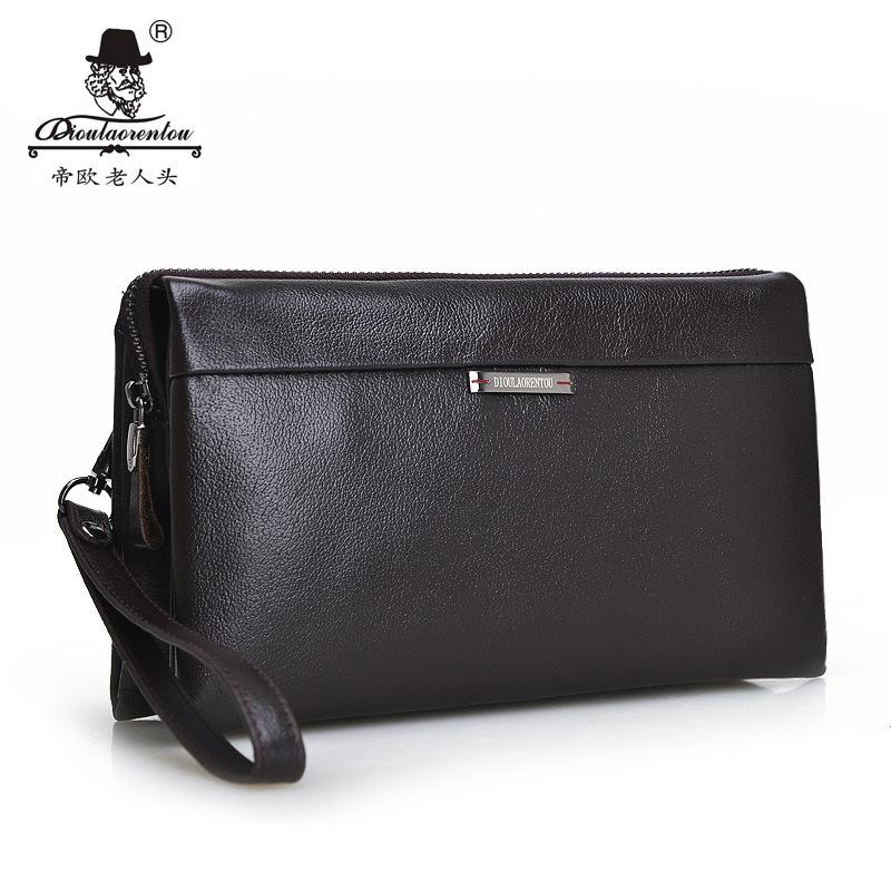 LAORENTOU bag hand bag men head layer Cowhide Leather Wallet Leather Handbag Clutch male<br><br>Aliexpress