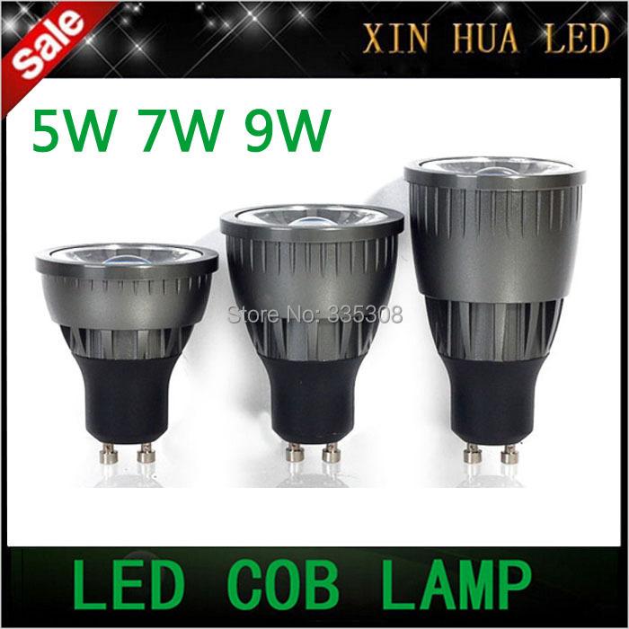 5W 7W 9W GU10 COB Led spotlight Bulb Lamp AC85-265v CE/RoHS Dimmable Lighting downlight - Xin Hua Electrical LED Store store