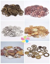 50g/lot Mixed Sizes Mechanical Gears Metal Jewelry Accessories Material DIY Retro Pendant 079028121(China (Mainland))
