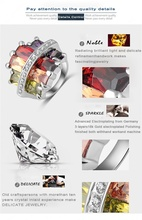 Trendy Unique Platinum Plating Genuine Austrian Crystals SWA Elements Rings Jewellery Wholesale Ring 26 25mm Ri