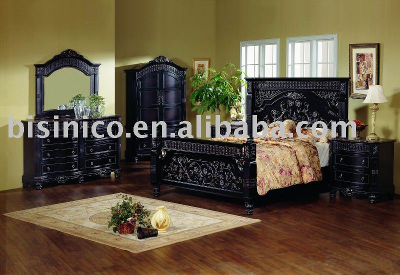 Classical solid wood bedroom sets with hand carving details,night stand,dresser,mirror,chest,TV armoire,American furniture(China (Mainland))