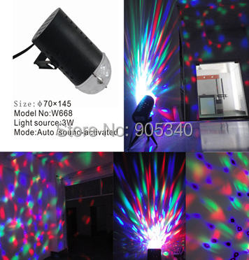 3W Full Color RGB LED Crystal Voice-activated Rotating Stage Light ,DJ Disco KTV,party led Christmas light - SHENZHEN HI-POWER LIGHTING LIMITED store