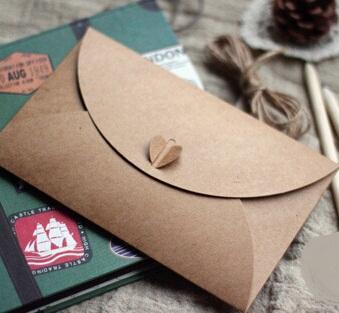 175*110mm/New Vintage Romatic heart  DIY Multifunction Kraft paper Post card envelope/card bag/wholesale<br><br>Aliexpress