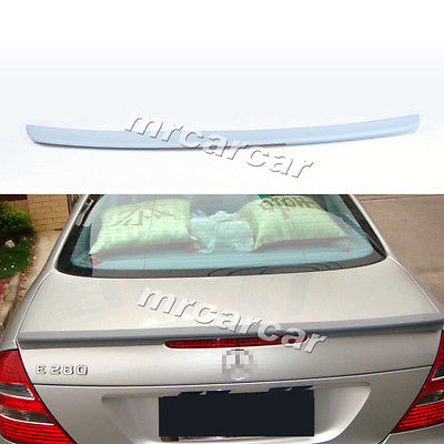 W211 PU Unpainted Grey Primer Trunk Boot Spoiler Wing Benz E Class Saloon E63 AMG 2003 - 2009 MCARCAR KIT Store store