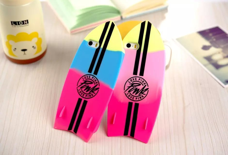 50pcs Summer Pop The Newest Victoria/'s Secret PINK Luxe candy letter surfboard Soft Silicone case For Iphone 4 4s 5 5s 6 6plus(China (Mainland))