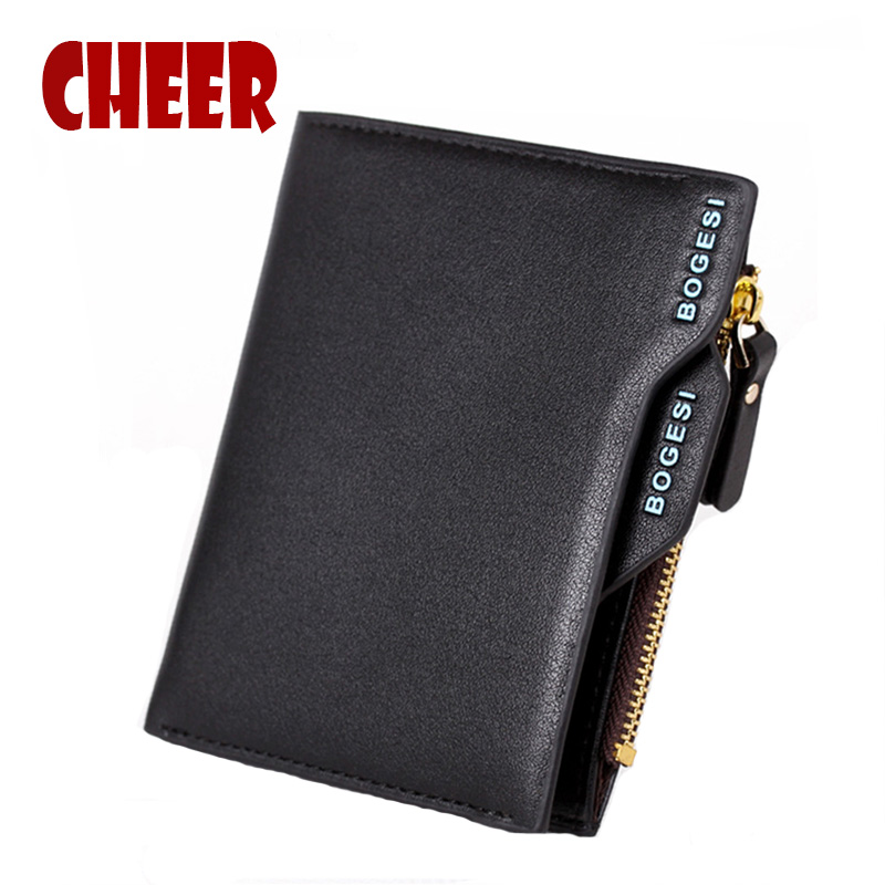 Men's wallets men purse Cover on the passport visiting cards organizer bags for men wallets Zipper Coin card holder portfolio(China (Mainland))