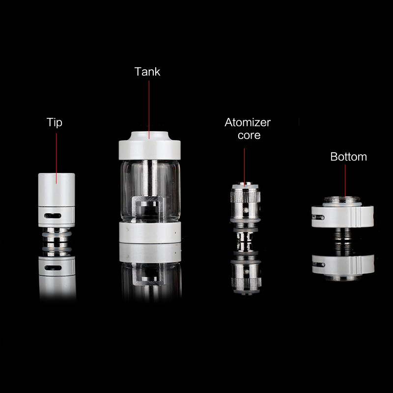 Original ECT eT 50 Electronic Cigarette kit 50W box mod vaporizer with mini fog airflow control atomizer 2200mah E cig battery