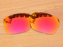 Polycarbonate-Fire Red Mirror Replacement Lenses For TwoFace Sunglasses Frame 100% UVA & UVB Protection