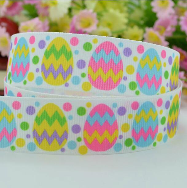 7/8'' 22mm Easter colorful eggs Mickey grosgrain printed ribbon,party decoration ribbon,Handcrafts DIY ribbon,Christmas ribbon(China (Mainland))
