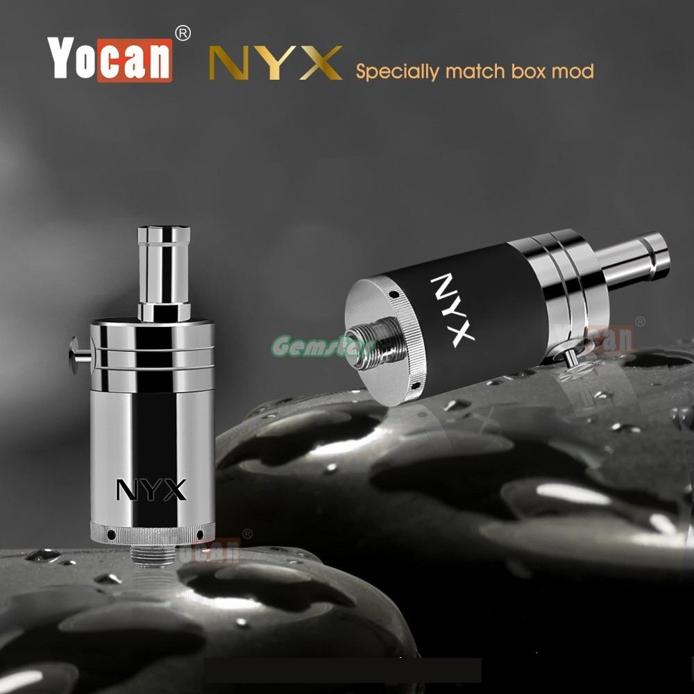 ถูก 5ชิ้น/ล็อตเดิมบุหรี่อิเล็กทรอนิกส์Yocan NYXฉีดน้ำฉีดน้ำขี้ผึ้งairfolwปุ่มควบคุม510 vaportankเรือฟรี