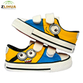 LUC 7 Styles Cartoon Low Magic Despicable Me Minion Spongebob Puppies Fox Children Baby Hand Painted