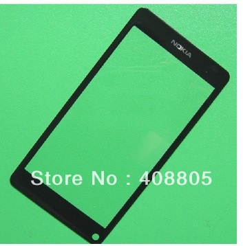 10pcs/lot for Nokia N9 black outer glass lens front glass lens ( NO LCD or Toch screen digitizer) Black Color(China (Mainland))