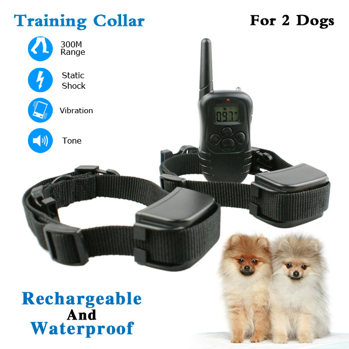 Adjustable strap cats e-collar seat belt dog collar dog control equipment waterproof and rechargeable 300m remote control(China (Mainland))