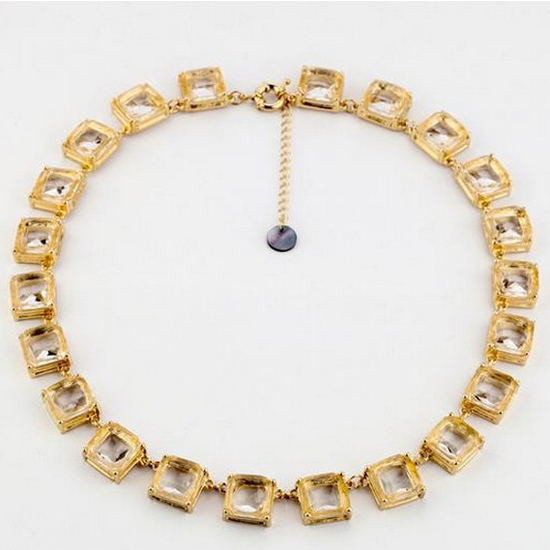 Wholesale Gold Chain with crystal stone Chunky Necklaces