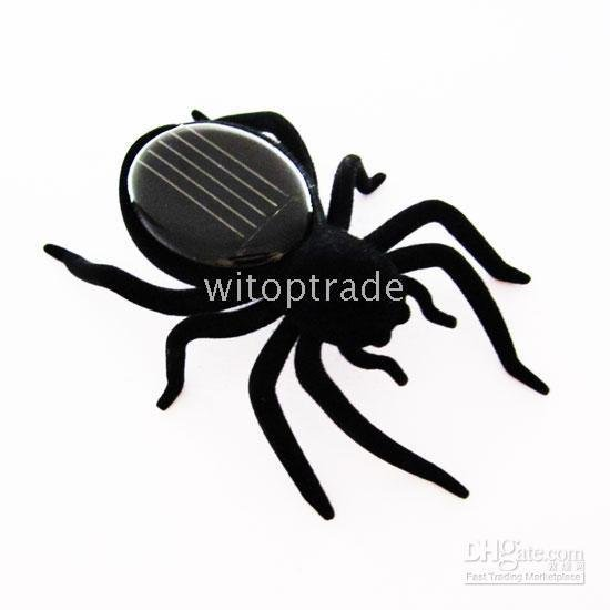 free shipping solar powered spider toys ,insect , Gadget Robot toy gift present 5pcs(China (Mainland))