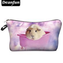 Deanfun 2016 Hot-selling Travel Cosmetic Bag Women Brand Small Makeup Case 3D Printing Christmas Gift Pig BHZB23(China (Mainland))