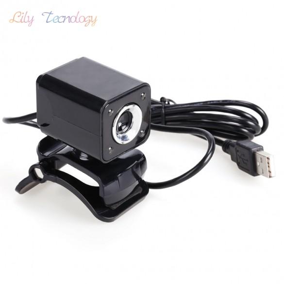 New USB 2.0 8.0 Mega Pixels 4 LED HD Webcam Web Cam Camera for Laptop Computer<br><br>Aliexpress