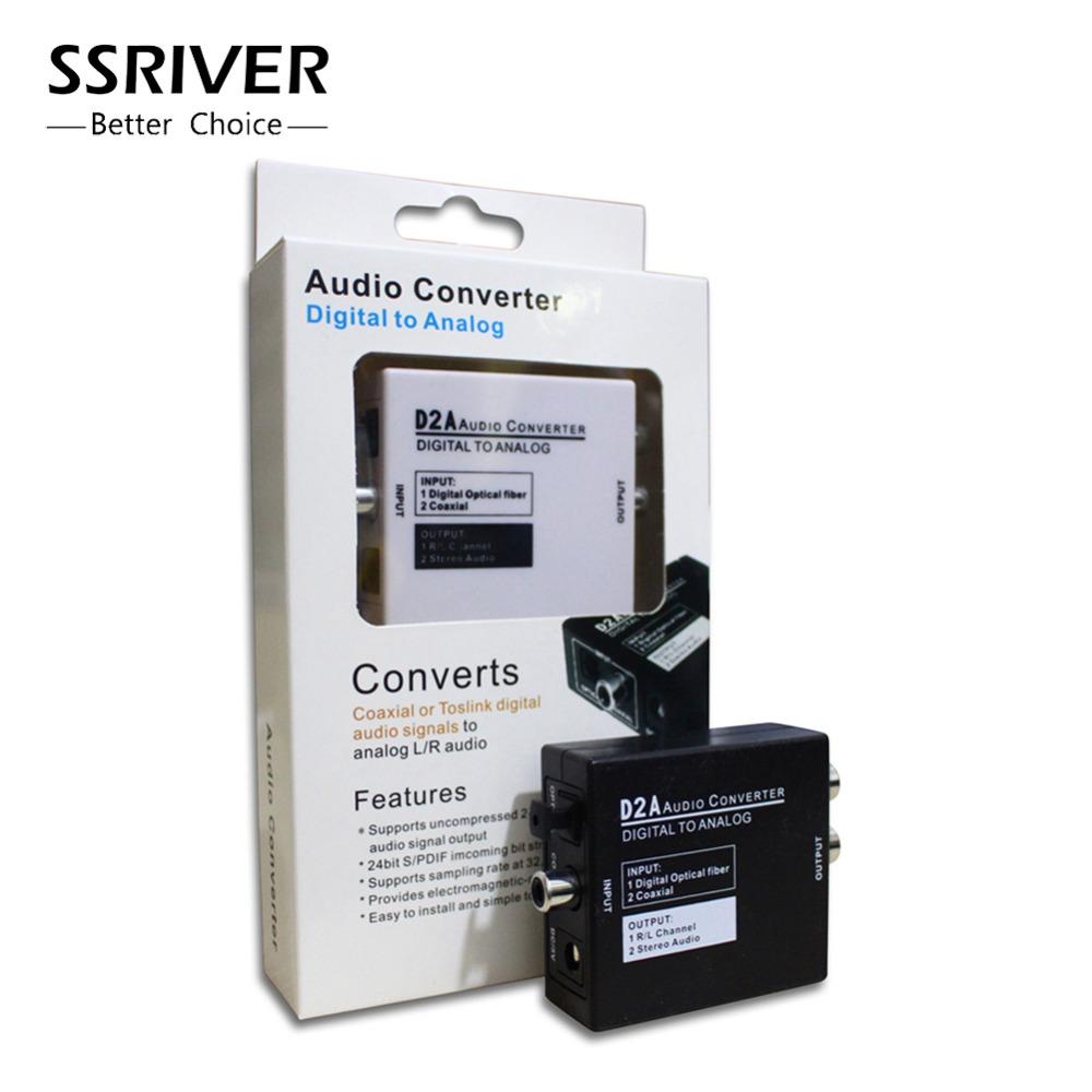 D2A Mini Digital Optical Coax Coaxial Toslink to Analog RCA L/R Audio Converter Adapter With EU AU US UK Power Plug(China (Mainland))