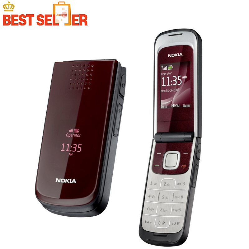 2720 Cheapest phone Original Nokia 2720 fold Unlocked Cell phone free shipping(China (Mainland))
