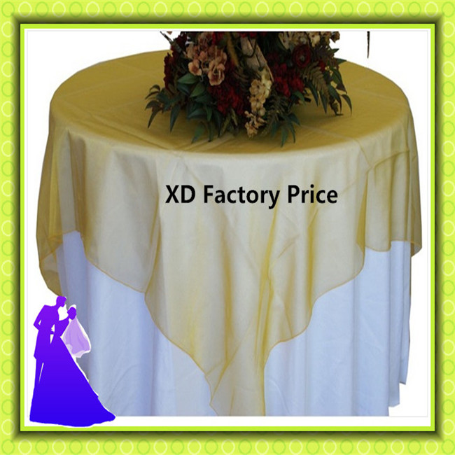 Wedding organza table overlay party standard plain decoration(China (Mainland))