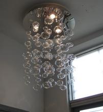 Height 60cm lamp designe Murano Due Bubble Glass Chandelier Suspension Light Pendant Lamp modern living room lamp